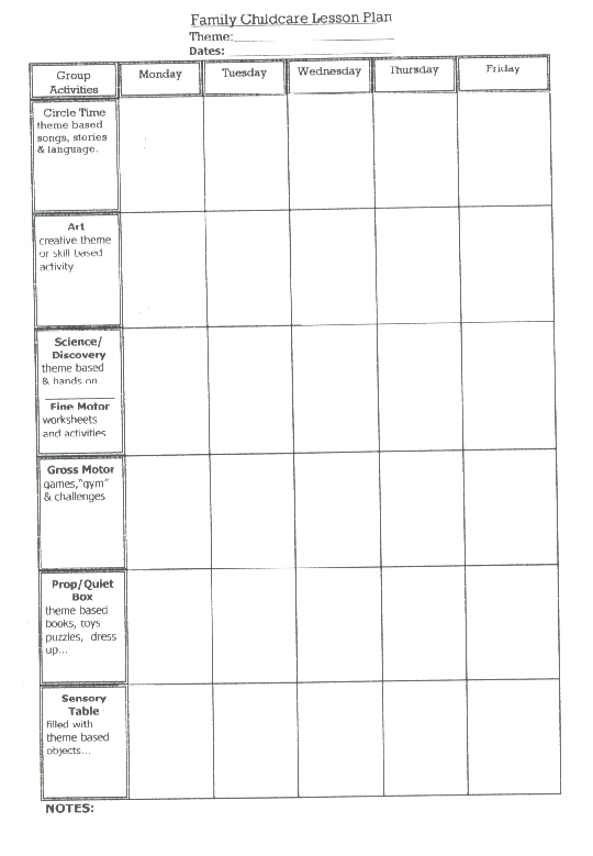 Lesson Plan - Blank lesson plan template for physical education